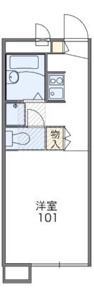 レオパレスHAMANASU[1K/20.42m2]の間取図