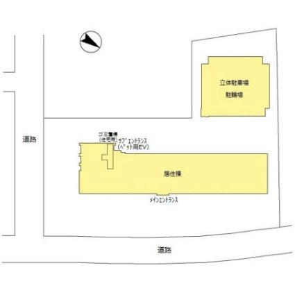 新潟県新潟市中央区東万代町[1LDK/63.66m2]の配置図