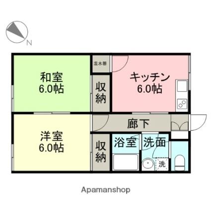 カーサ青山Ⅰ[2DK/49.21m2]の間取図