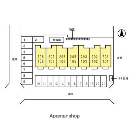 Artesia(アルテイシア)[1LDK/37.93m2]の配置図