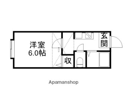新潟県新潟市西区坂井砂山1丁目[1K/20.52m2]の間取図
