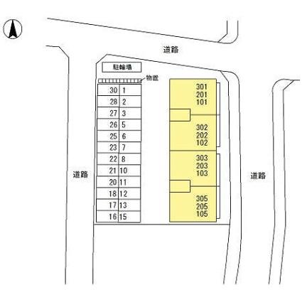 新潟県新潟市西区ときめき東1丁目[3LDK/71.81m2]の配置図