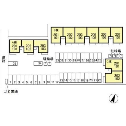 新潟県新潟市中央区女池3丁目[2DK/55.2m2]の配置図
