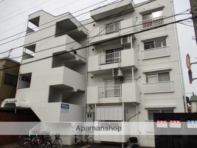 富山県富山市、稲荷町駅徒歩10分の築32年 4階建の賃貸マンション