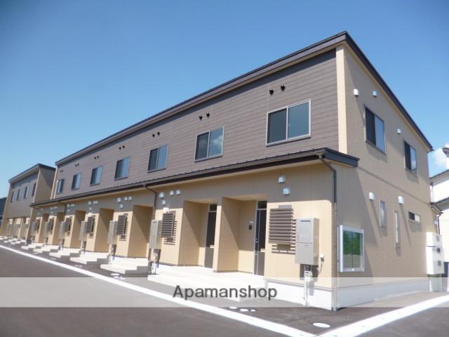 富山県富山市、朝菜町駅徒歩7分の築1年 2階建の賃貸テラスハウス