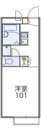 レオパレス椎ノ木台Ⅱ[1K/19.87m2]の間取図