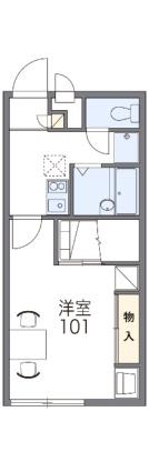 レオパレス富岡[1K/23.18m2]の間取図