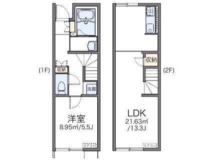 レオネクスト上袋Ⅱ[1LDK/46.94m2]の間取図