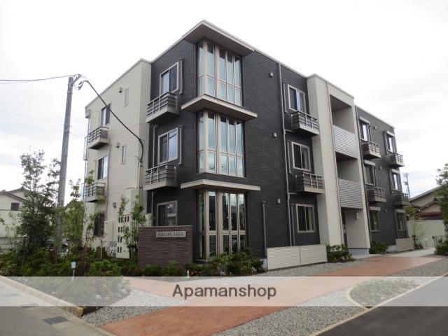 富山県富山市、稲荷町駅徒歩5分の築1年 3階建の賃貸マンション