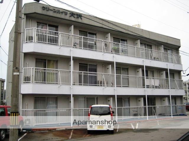 富山県富山市、西富山駅徒歩6分の築32年 3階建の賃貸アパート