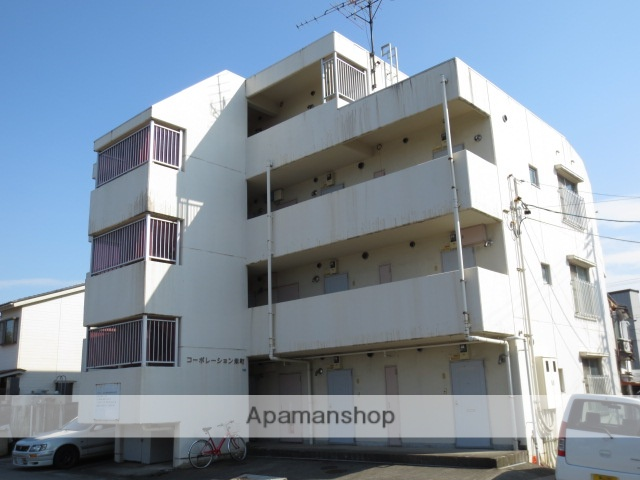 富山県富山市、稲荷町駅徒歩6分の築31年 4階建の賃貸マンション