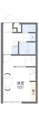 レオパレスRED[1K/23.18m2]の間取図