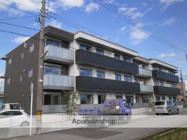 富山県富山市、朝菜町駅徒歩3分の築2年 3階建の賃貸マンション