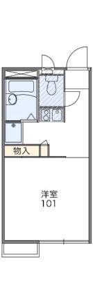 レオパレスララポート清水元町[1K/20.28m2]の間取図