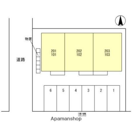 富山県富山市黒崎[1R/38.35m2]の配置図