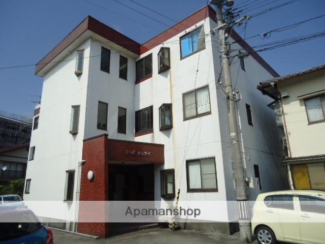 富山県富山市、南富山駅徒歩4分の築25年 3階建の賃貸アパート