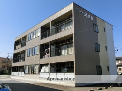 富山県富山市の築23年 3階建の賃貸アパート