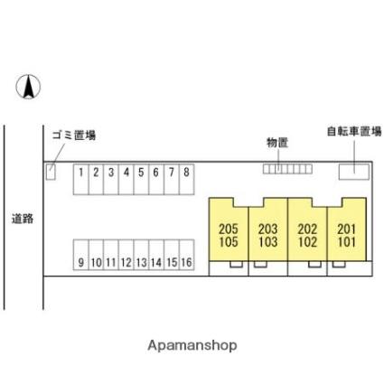 ブランズ黒崎[2LDK/70.81m2]の配置図