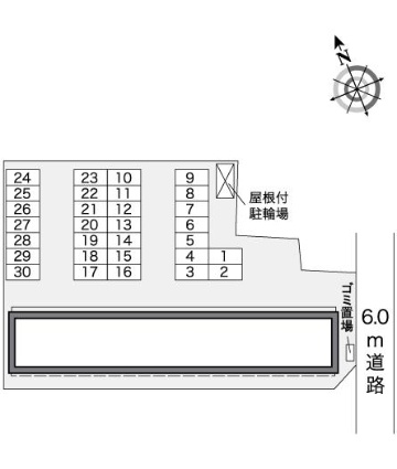 レオパレスマイパレオ Ⅱ[1K/23.72m2]の内装1