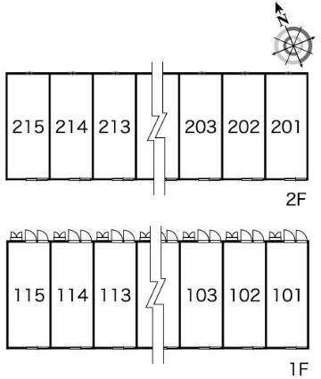 レオパレスマイパレオ Ⅱ[1K/23.72m2]の内装2