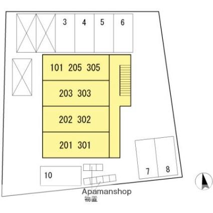 ストゥーディオ石金[1K/29.21m2]の配置図