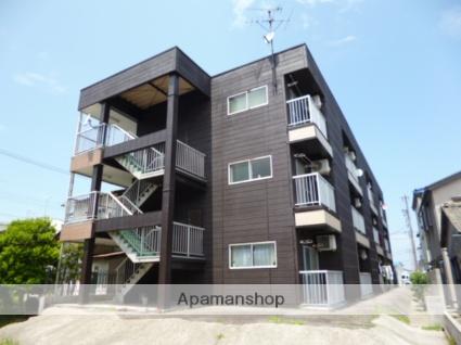 富山県富山市、インテック本社前駅徒歩20分の築28年 3階建の賃貸アパート