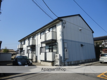 富山県富山市の築18年 2階建の賃貸アパート