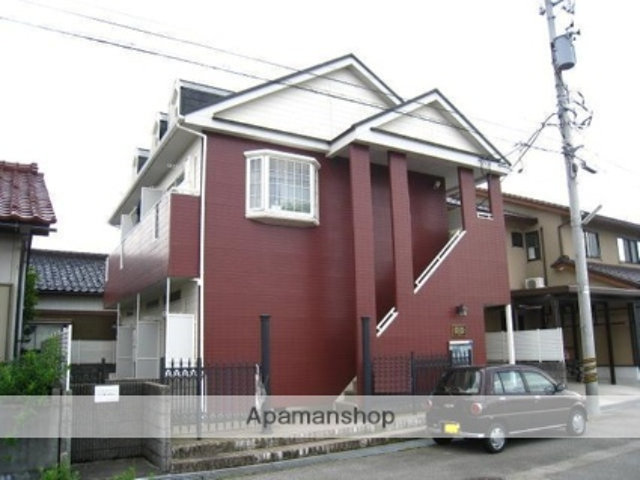 富山県富山市、インテック本社前駅徒歩14分の築27年 2階建の賃貸アパート