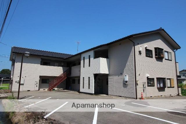 富山県小矢部市の築23年 2階建の賃貸アパート