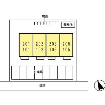 サンハイム[1R/33.39m2]の配置図