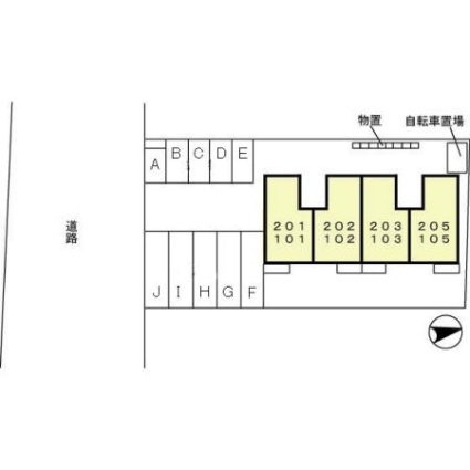 プリムローズ[2DK/50.42m2]の配置図