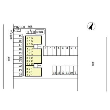 FLAT ai[1LDK/48.38m2]の配置図