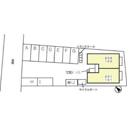 ロン・ヌーボⅡ[1LDK/41.26m2]の配置図