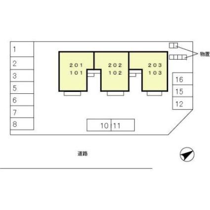 モンテ・ボヌール[2LDK/53.99m2]の配置図