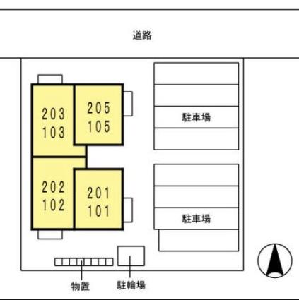 ドゥ・モンターニュ[1LDK/41.01m2]の配置図