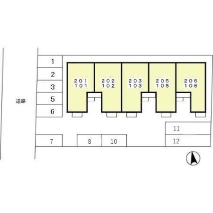グラシュー・M[1LDK/40.98m2]の配置図
