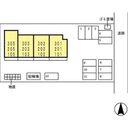 アドバンスS[1LDK/33.69m2]の配置図