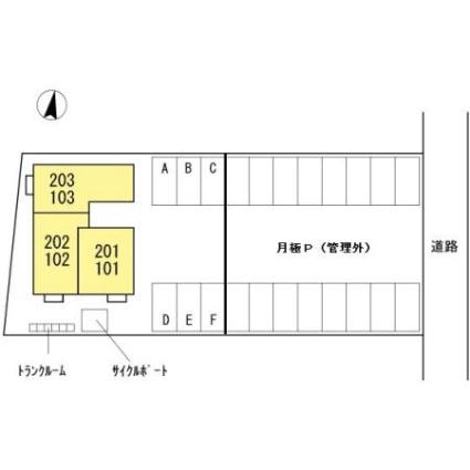 石川県金沢市諸江町下丁[1LDK/37.77m2]の配置図