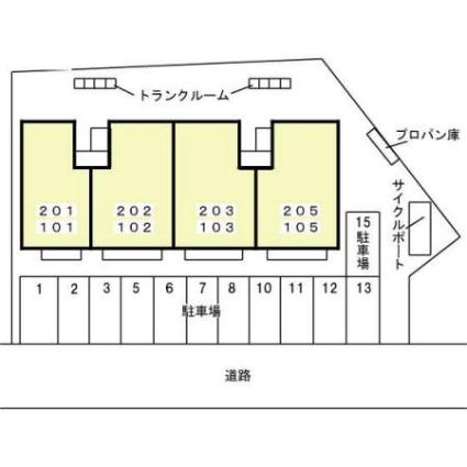 ヴィクトワール[2LDK/59.58m2]の配置図