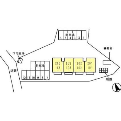 アメージング[1LDK/41.26m2]の配置図