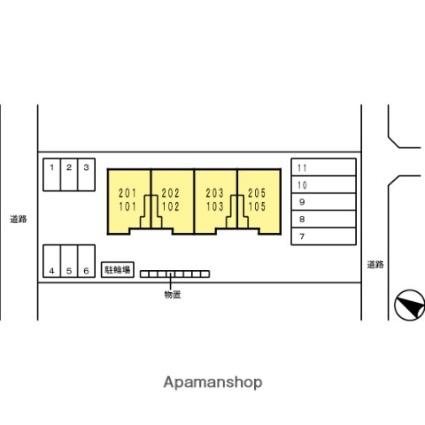 ジャンティファミーユ(レグ)[1LDK/47.8m2]の配置図
