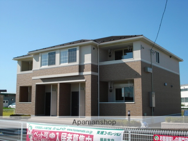 福井県福井市、福井駅バス35分定重下車後徒歩10分の築6年 2階建の賃貸アパート