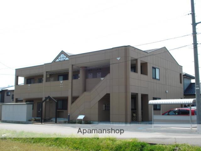 福井県坂井市、丸岡駅バス15分西瓜屋学校前下車後徒歩10分の築10年 2階建の賃貸マンション