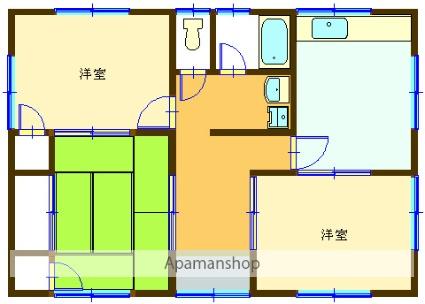 山梨県甲府市、甲府駅徒歩25分の築41年 1階建の賃貸一戸建て