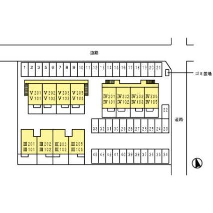 山梨県笛吹市石和町東油川[2DK/50.12m2]の配置図