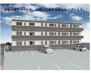 山梨県甲府市、甲府駅徒歩40分の築1年 2階建の賃貸アパート