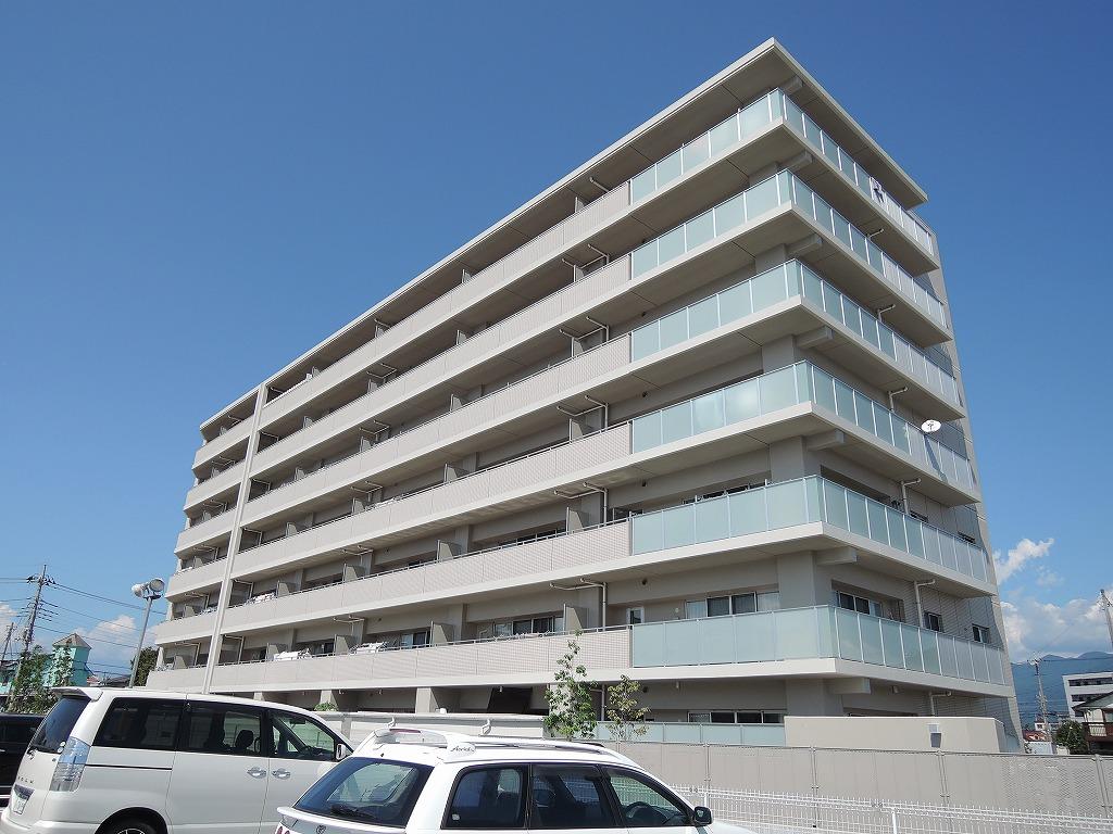 山梨県中巨摩郡昭和町、国母駅徒歩20分の新築 7階建の賃貸マンション