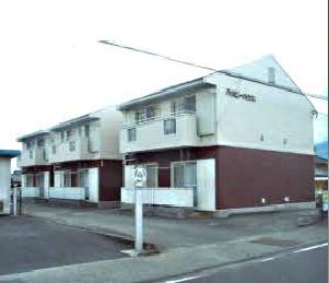 山梨県南アルプス市の築25年 2階建の賃貸アパート