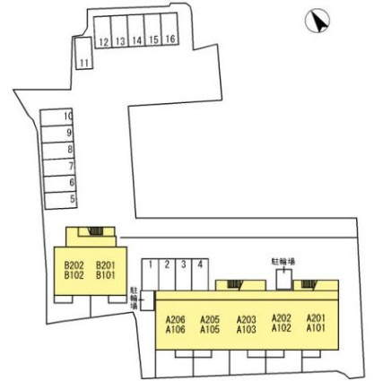 山梨県甲府市大手1丁目[1LDK/39.94m2]の配置図