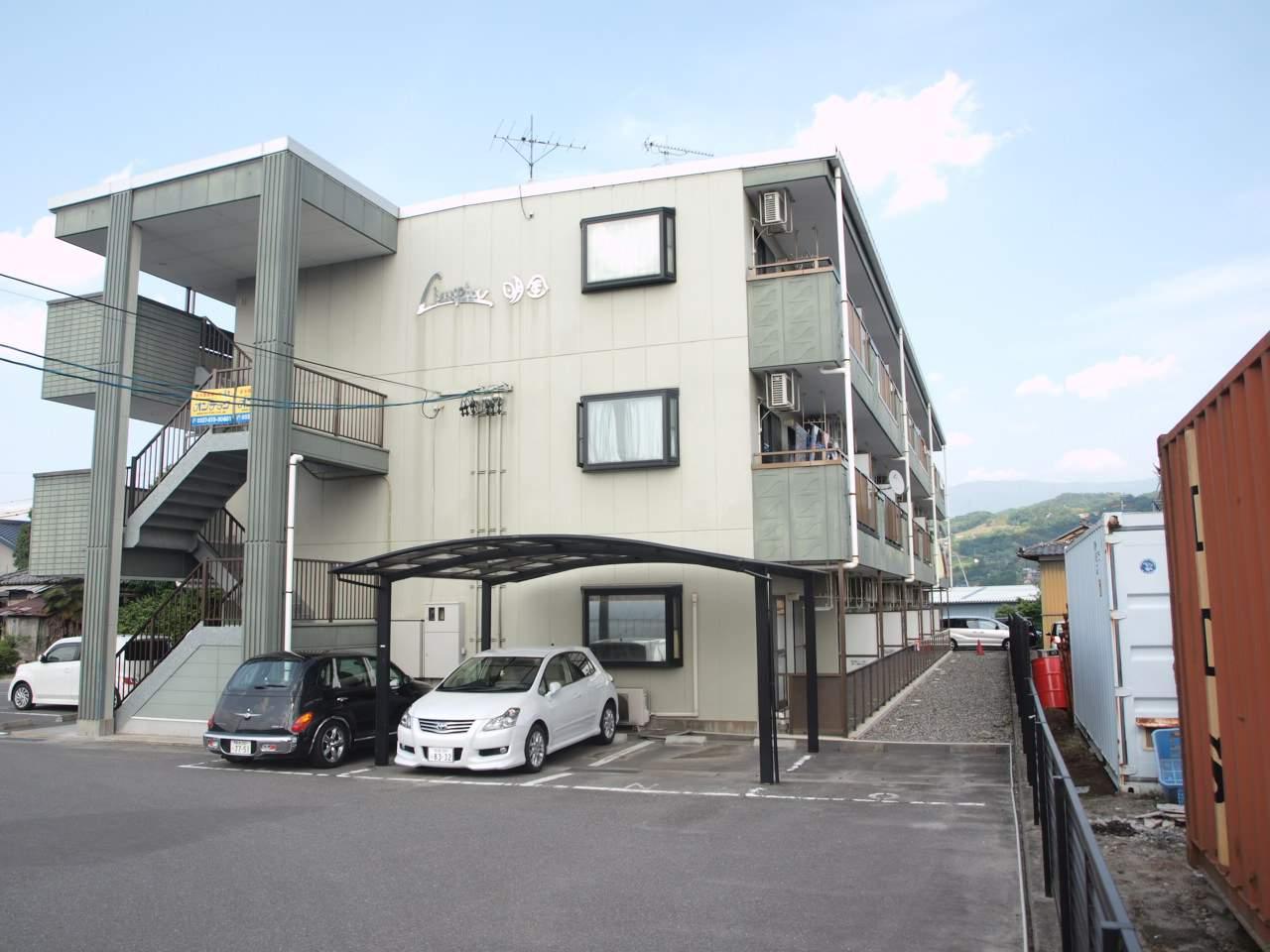 長野県飯田市、毛賀駅徒歩11分の築17年 3階建の賃貸アパート